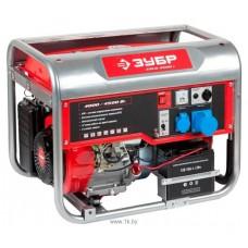 Бензиновый генератор Зубр ЗЭСБ-4500-Э с ручным и электро запуском