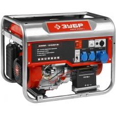 Бензиновый генератор Зубр ЗЭСБ-5500-Э с ручным и электро запуском