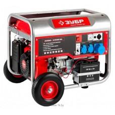 Бензиновый генератор Зубр ЗЭСБ-5500-ЭН с ручным и электро запуском + колеса и ручки
