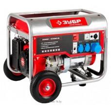 Бензиновый генератор Зубр ЗЭСБ-5500-Н с ручным запуском + колеса и ручки