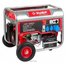 Бензиновый генератор Зубр ЗЭСБ-6200-ЭН с ручным и электро запуском + колеса и ручки