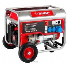 Бензиновый генератор Зубр ЗЭСБ-6200-Н с ручным запуском + колеса и ручки